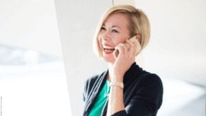 Business coach Hannah Bratterud on a sales training call