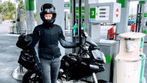 Motorcycle exploration with Sales coach Hannah