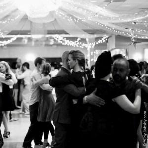 Dancing under sparkling white lights