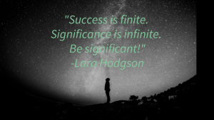 Quote about success and starry sky background